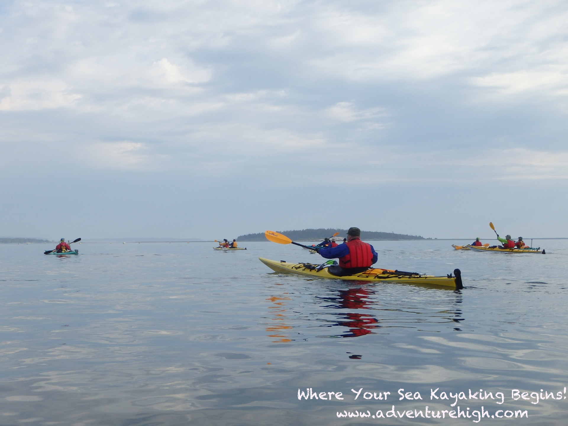 Seakayaking OutwardBound flatcalm