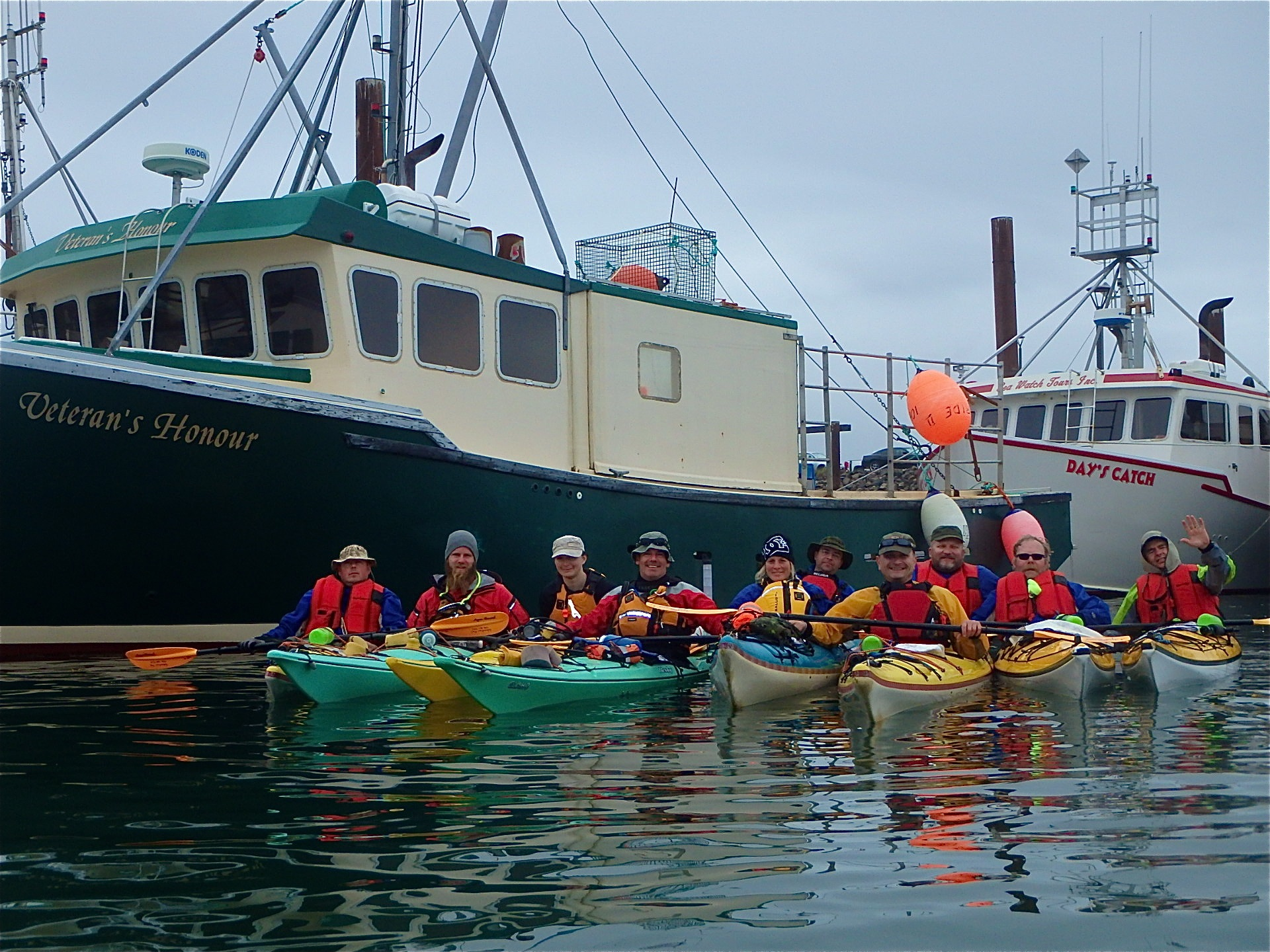 Seakayaking OutwardBound veteranshonour