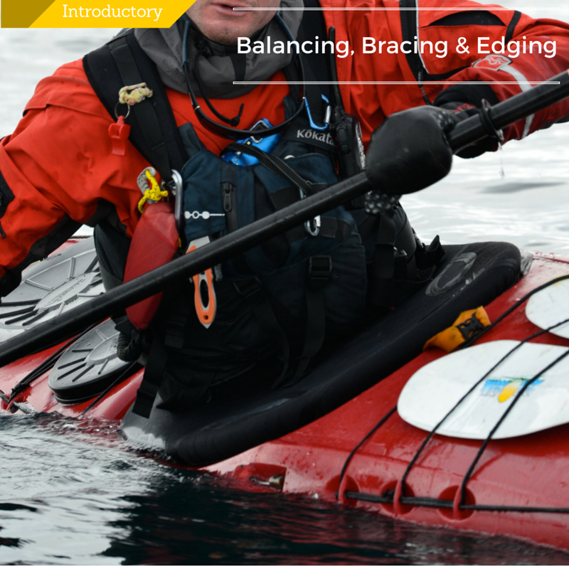 sea kayaking Balancing Bracing Edging