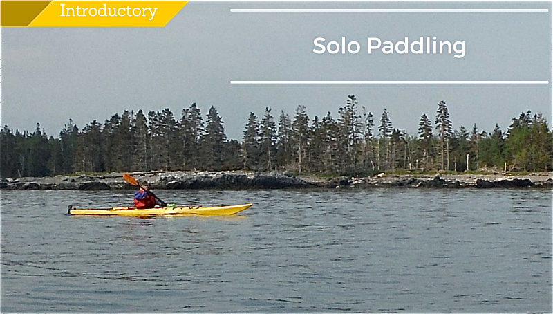 sea kayaking Solo Paddling